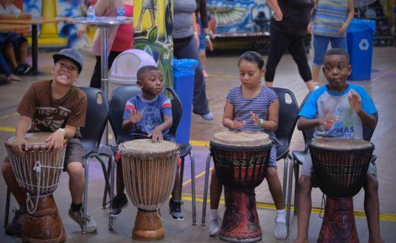World Beat Center kids