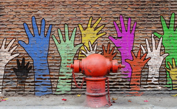 hands painted wall