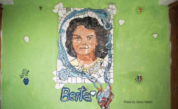 mural of human rights defender Berta Caceres