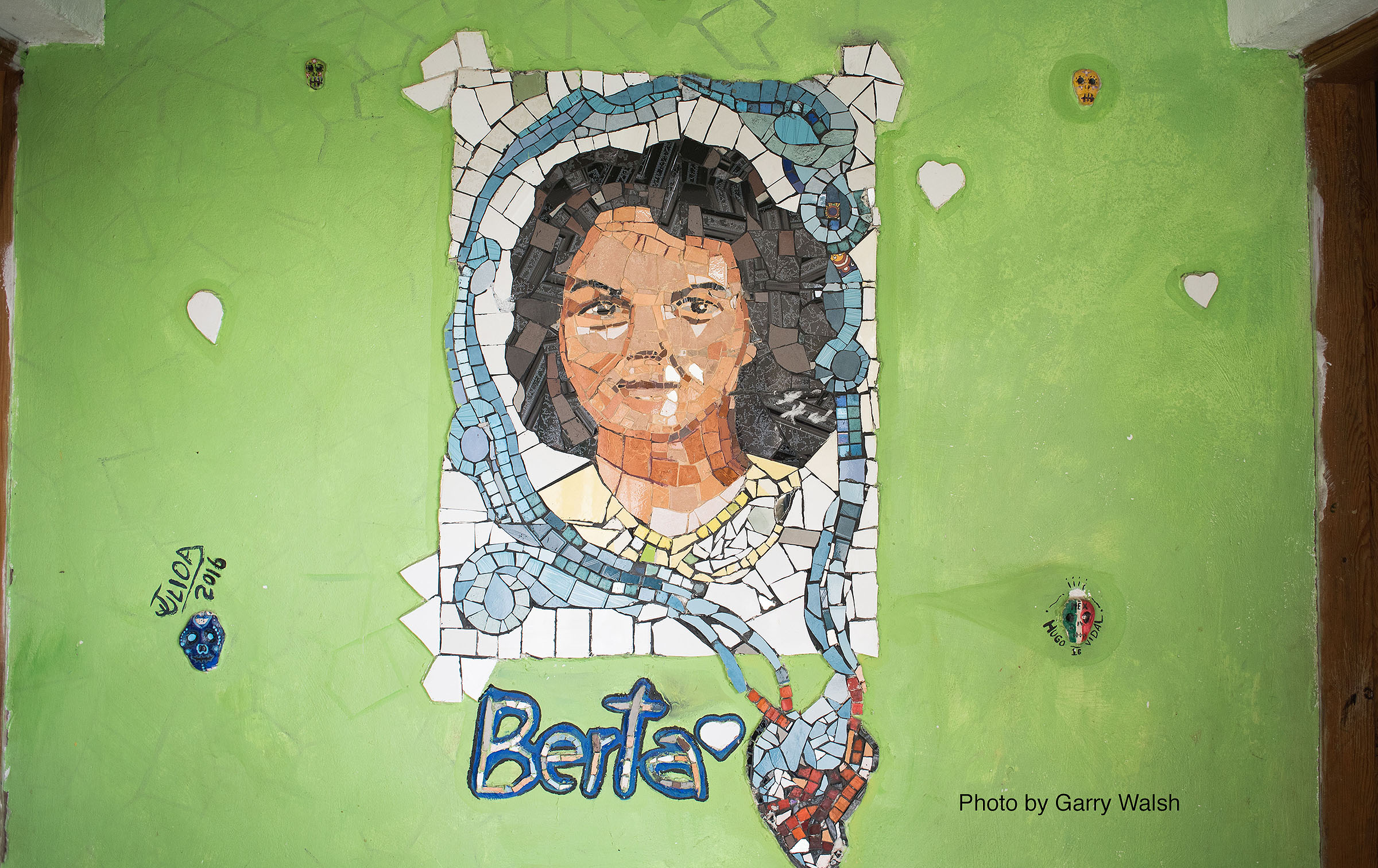 mural of human rights defender Berta Caceres