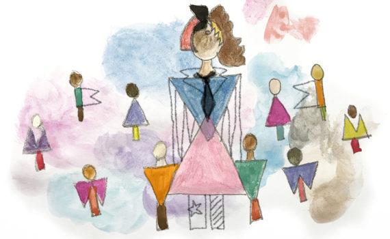 illustration representing male, female and non-binary
